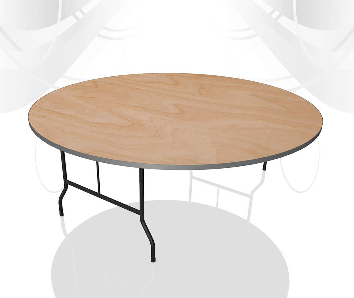 Round Dinner Table For 6: 6ft Round Dining Table