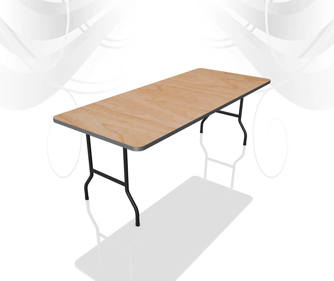 6ft X 2ft 6in High Leg Catering Table Furniture4events