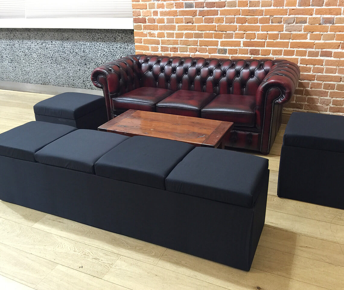 Banquette Fabric Cube Furniture4events