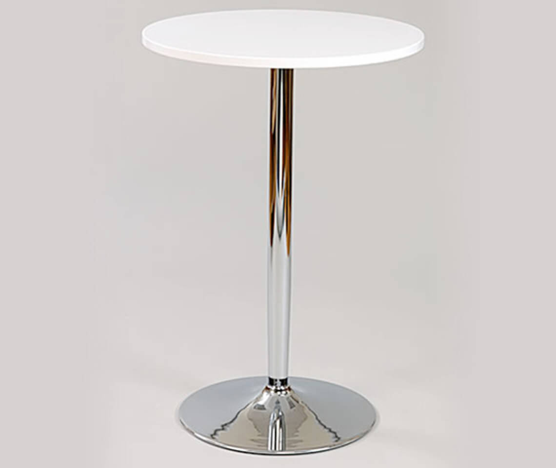 White Top Roma Poseur Table Furniture4events
