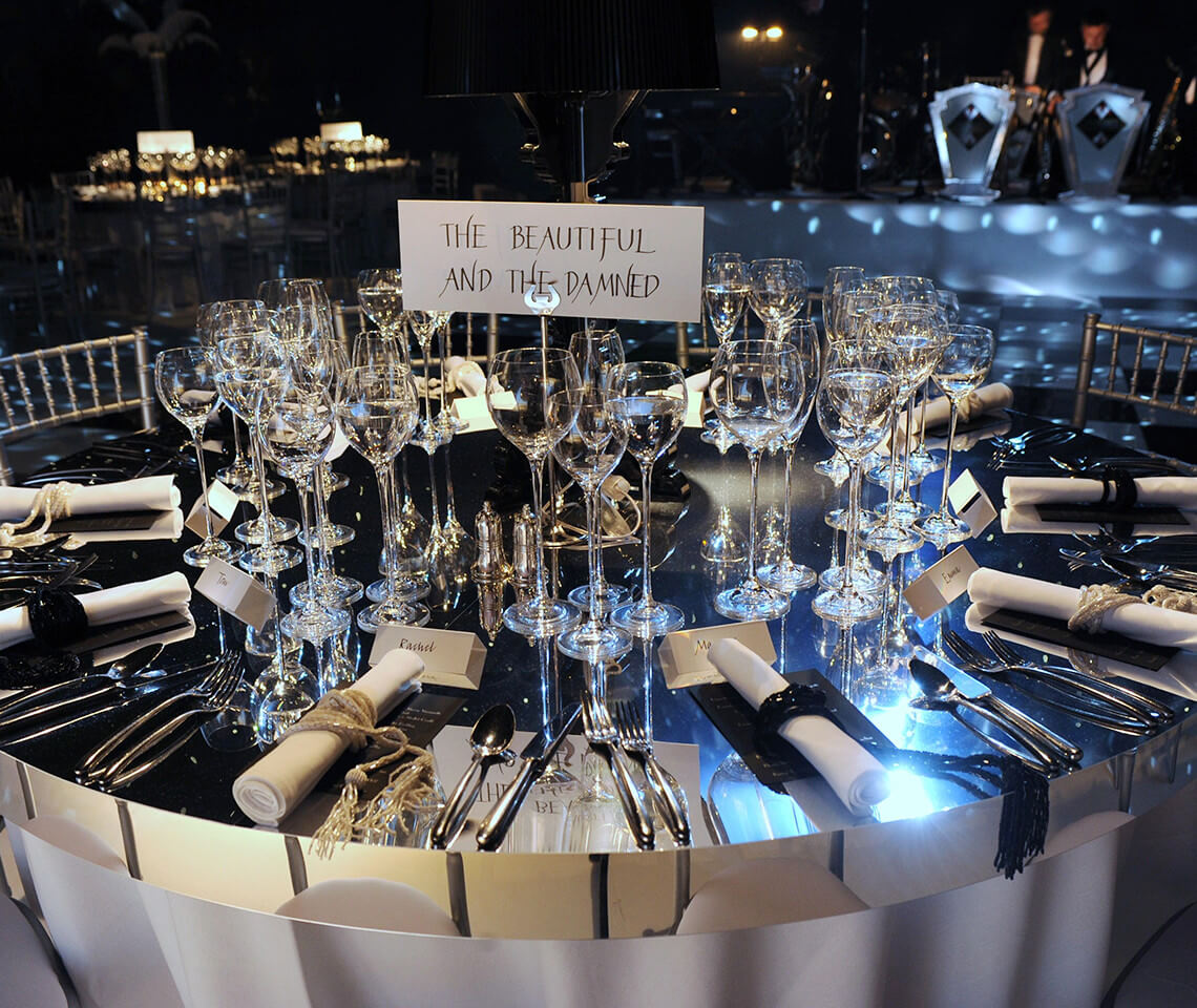 Silver Mirror Round Dining Table Furniture4events
