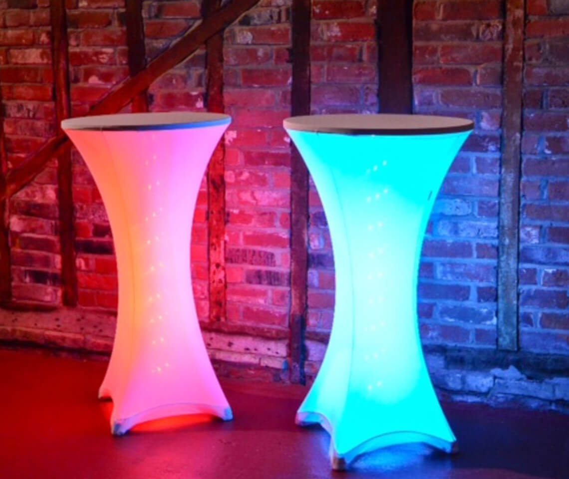 Spandex Illuminated Poseur Table Furniture4events