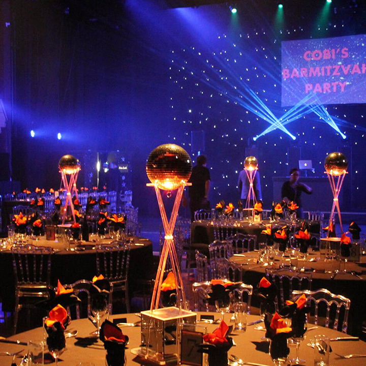 Disco Ball Table Decorations: Table Centres And Furniture Hire