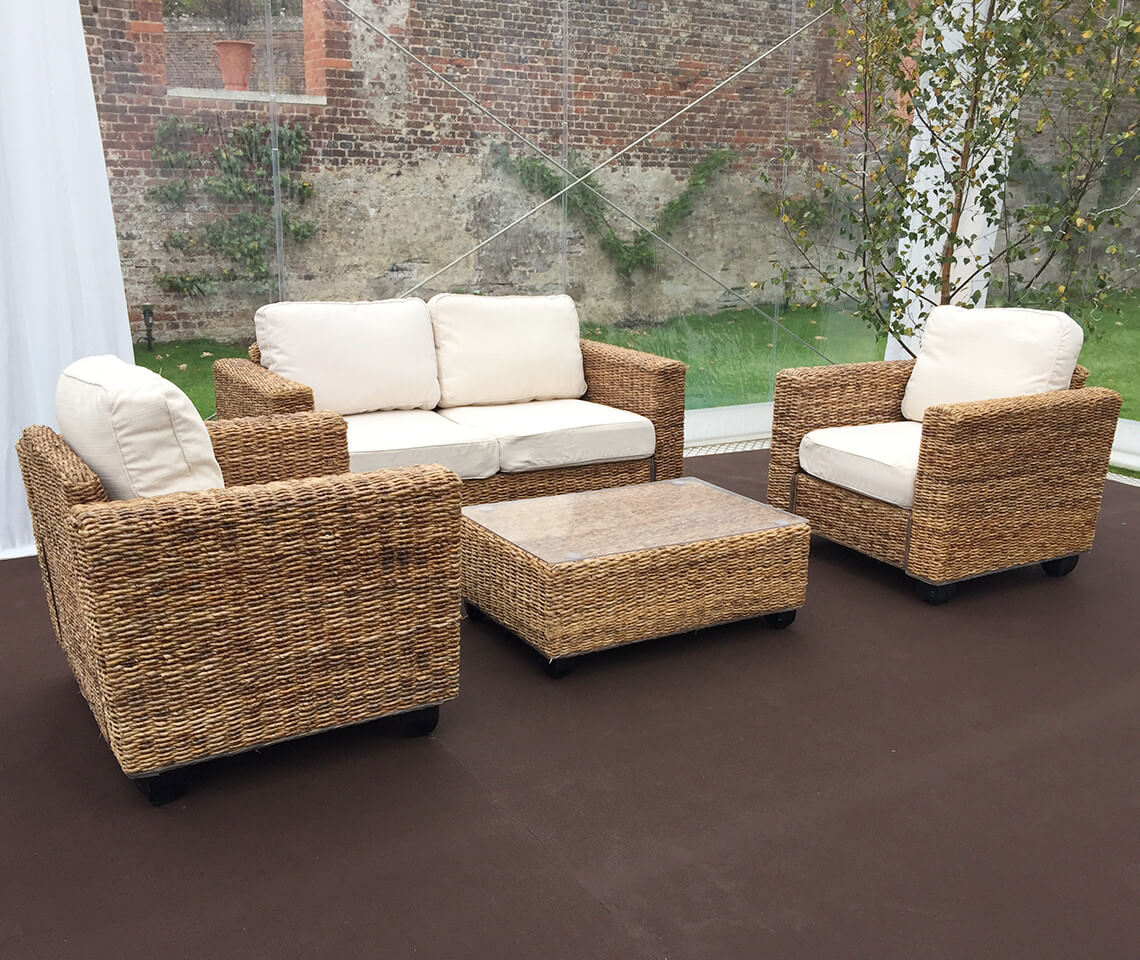 Indoor Natural Rattan Sofa Set Furniture4events