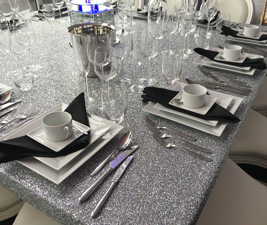 Glitter 6ft Square Dining Table Furniture4events