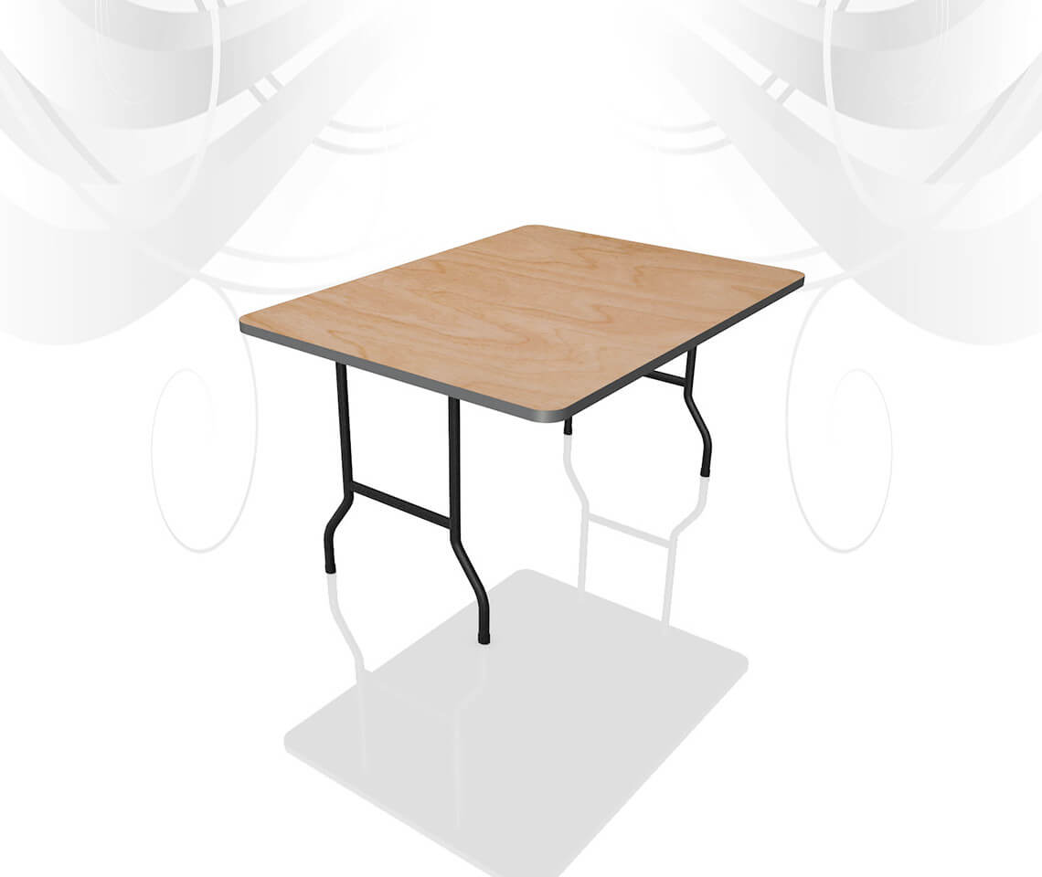 4ft X 2ft 6in Trestle Table Furniture4events