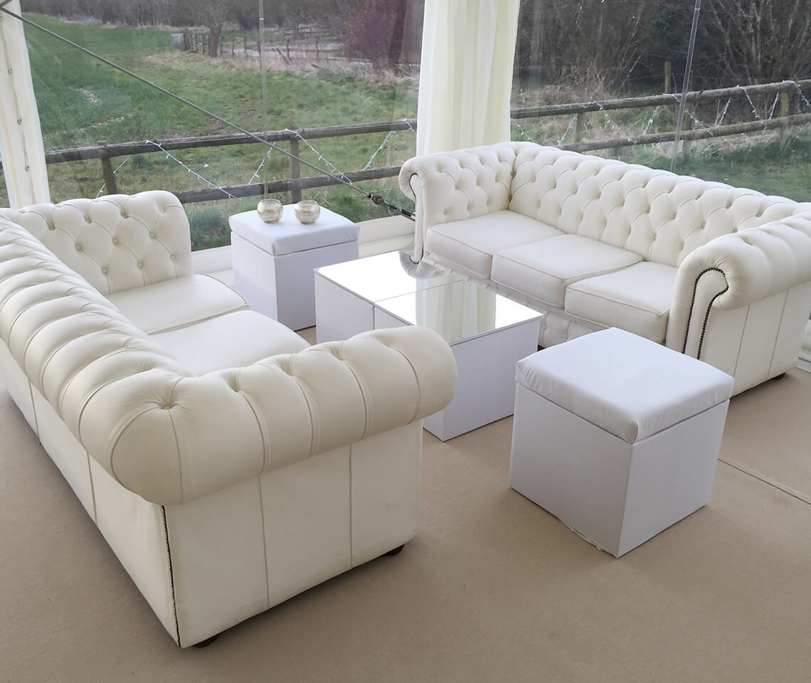 White Chesterfield Sofa Furniture4events