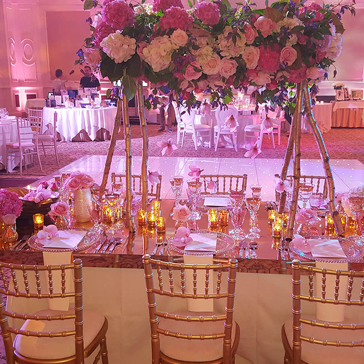 Luxury Wedding Furniture Hire Exclusive Silver And Gold